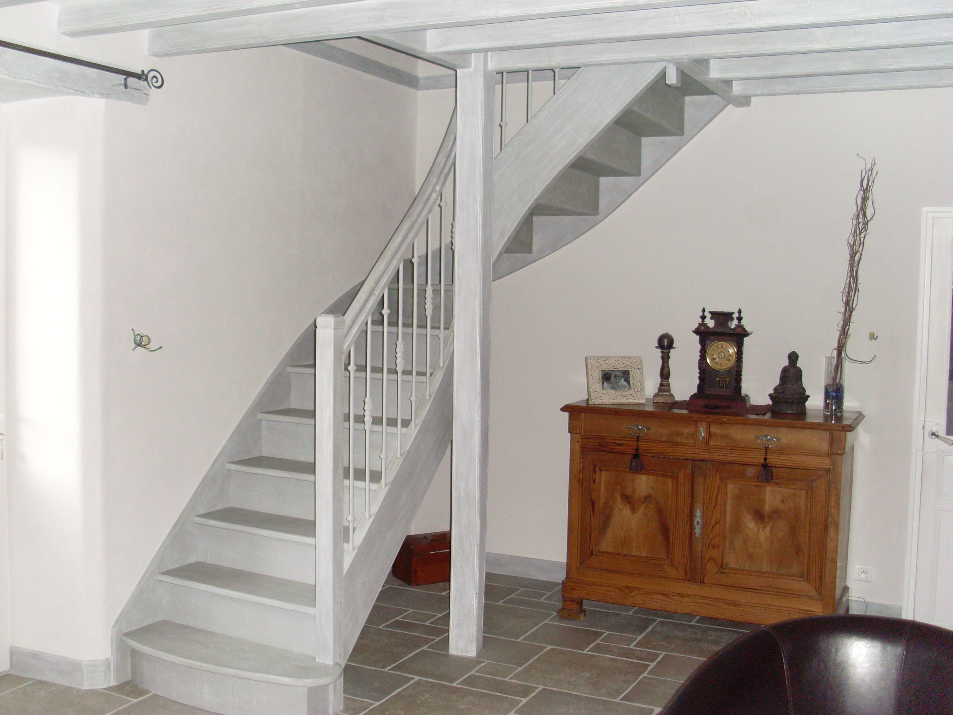 Escalier bois par Berriau Menuiserie Vendée