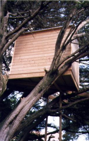 Cabane bois en Vendée