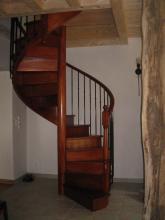 Escalier bois colimaçon